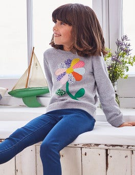 Colourful Appliqué Sweatshirt