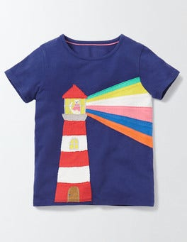Starboard Lighthouse Big Appliqué T-shirt