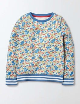 Bright Bluebell Flower Bed Cosy Printed Sweatshirt