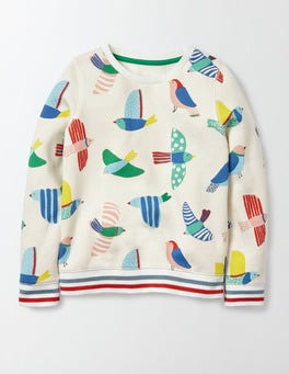 Multi Painted Bird Cosy Printed Sweatshirt