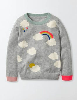 Grey Marl Clouds Fun Jumper