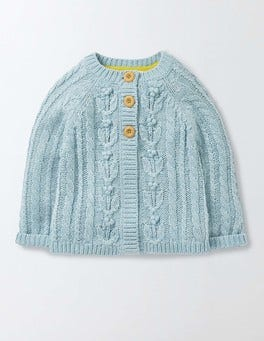 Mineral Blue Marl Cable Cardigan