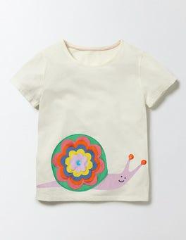 Mini Ecru Snail Animal Pal T-shirt