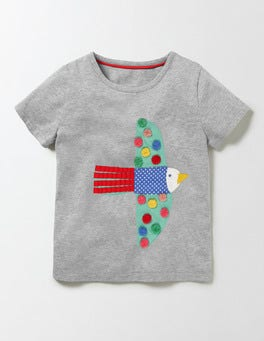 Grey Marl Bird Animal Pal T-shirt