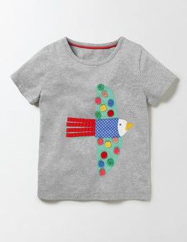 Grey Marl Bird Animal Pal T-Shirt