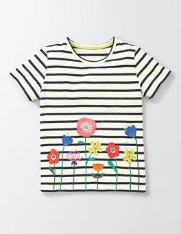 Ivory/Navy Stripe Flutter Away T-shirt