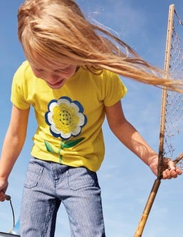 Floral Crochet T-shirt