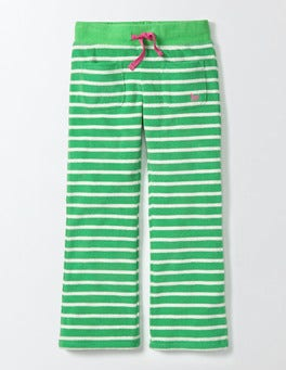 Summer Green/Ivory Stripe Towelling Sweatpants