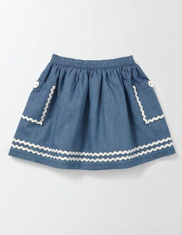 Light Chambray Twirly Nautical Skirt