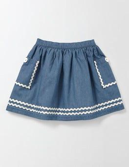 Light Chambray Twirly Nautical Skirt