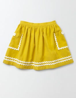 Mimosa Yellow Twirly Nautical Skirt