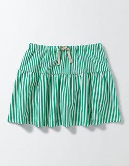 Astrogreen/Ivory Stripe Stripy Jersey Skort