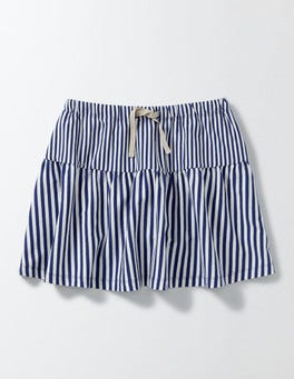 Ivory/Starboard Stripe Stripy Jersey Skort