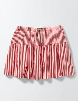 Raspberry Whip/Ivory Stripe Stripy Jersey Skort