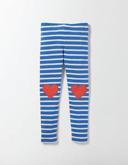 Skipper and Ivory Stripe Appliqué Leggings