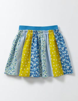 Bright Bluebell Spring Daisy Pretty Hotchpotch Skirt