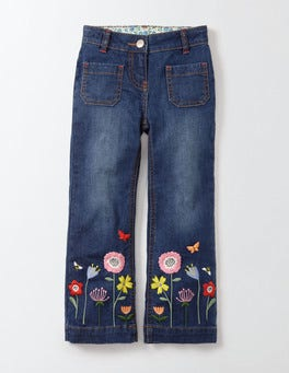 Mid Vintage Floral Pretty Flared Pants