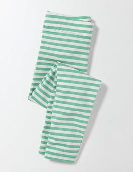 Waterfall/Ivory Stripe Fun Leggings