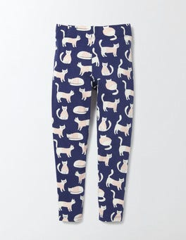 Naval Blue Lighthouse Cats Fun Leggings