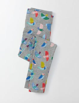 Grey Marl Mini Painted Birds Fun Leggings
