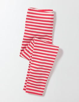 Raspberry Whip/Ivory Stripe Fun Leggings