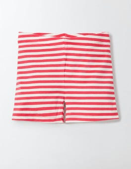 Mini Ecru/Rosehip Stripe Essential Jersey Shorts
