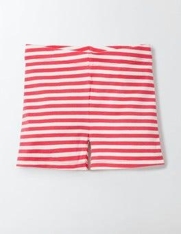 Mini Ecru/Rosehip Stripe Essential Jersey Shorts