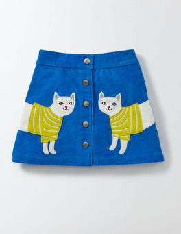 Skipper Cat Fun Appliqué Skirt