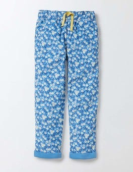 Bright Bluebell Spring Daisy Relaxed Pull-On Trouser