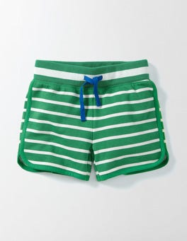 Wasabi/Ivory Stripe Retro Shorts