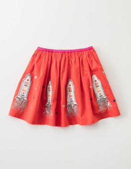Red Rocket Space Rocket Skirt
