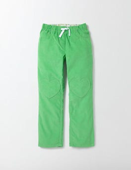 Wasabi Green Summer Heart Patch Trousers