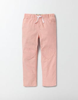 Chalky Pink Summer Heart Patch Trousers