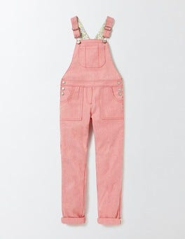 Raspberry Whip Stripe Long Dungarees