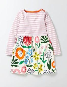 Multi Wallpaper Floral Hotchpotch Jersey Dress