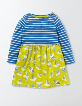 Cantaloupe Stripey Birds Hotchpotch Jersey Dress