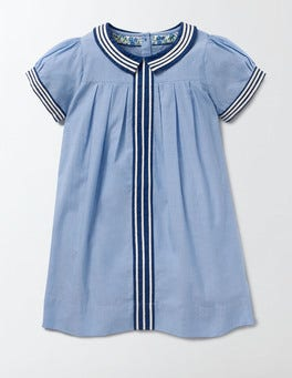 Light Chambray Pretty Collar Dress