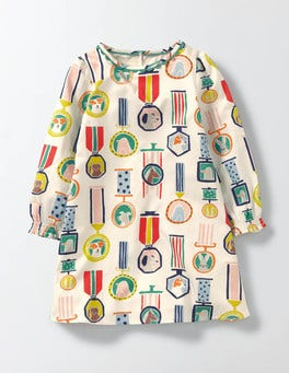 Top Dog Woven Printed Smock Dress