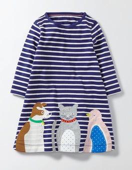 Starboard/Ivory Stripe Pets Favourite Pet Dress