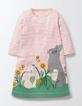 Chalky Pink/Ivory Stripe Favourite Pet Dress