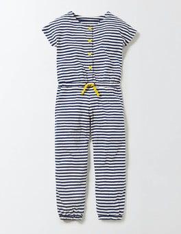 Ivory/Starboard Stripe Jersey Jumpsuit