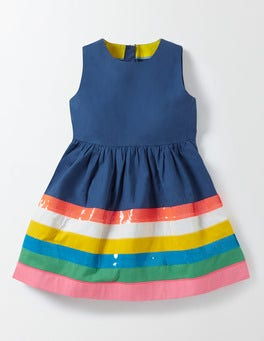 Starboard Rainbow Striped Dress