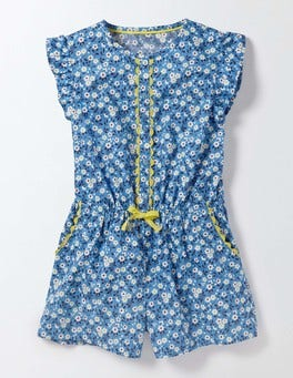 Bright Bluebell Spring Daisy Pretty Playsuit