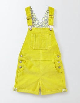 Mimosa Yellow Short Overalls