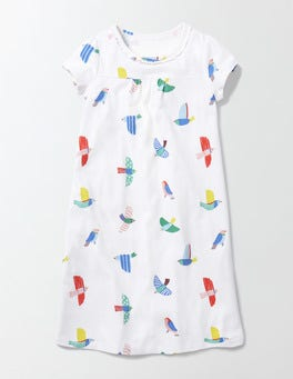 Multi Mini Painted Birds Printed Nightie