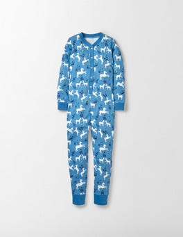 Bright Blue Pony Toile All-In-One