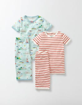 Azure Mist Mini Coastal Town Twin Pack Short Johns