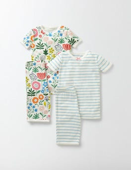 Multi Mini Wallpaper Floral Twin Pack Short Johns