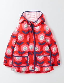 Rosehip Sunflower Jersey Lined Anorak