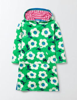 Summer Green Surf Floral Towelling Beach Dress